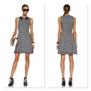 Kenzo Paris White Noise Contrast Collar Tank Dress